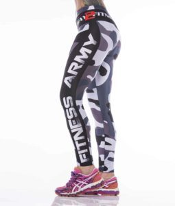 Front left zoom - Fitness army tights