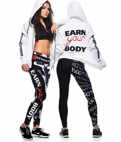 Earn your body - White Hoodie